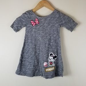 🔥Disney Jumping Beans Gray Minnie Dress 3t
